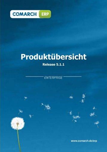 Produktübersicht: Comarch ERP Enterprise - Release 5.1.1