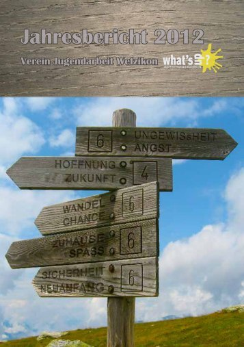 Jahresbericht 2012 - Verein Jugendarbeit Wetzikon