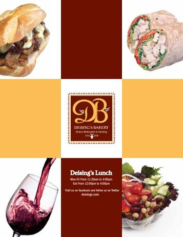 Deising's Lunch - Deising's Bakery