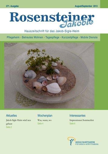 Jaköble August/September 2013 - Wohlfahrtswerk für Baden ...