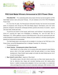 PHS Gold Medal Winners Announced at 2013 Flower Show - The ...