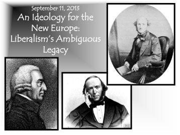 Liberalism's Ambiguous Legacy - University of Michigan