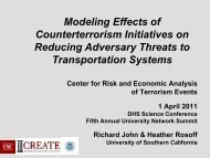 Modeling Effects of Counterterrorism Initiatives on Reducing ...