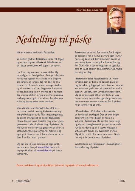 nr 1 - Norsk Døvehistorisk Selskap