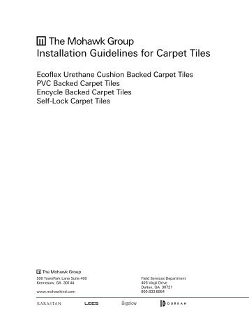 Installation Guidelines for Carpet Tiles - Mohawk Group