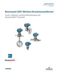Rosemount 3051 Wireless Druckmessumformer - Emerson Process ...