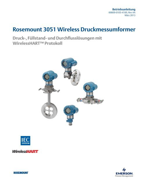 Rosemount 3051 Wireless Druckmessumformer - Emerson Process ...