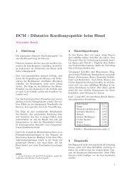 Dilatative Kardiomyopathie beim Hund - Alexander Busch