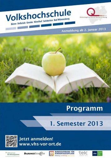 Volkshochschule - nächster Monat