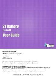 COPYRIGHT DISCLAIMER 2JGallery – Joomla! AJAX images ...