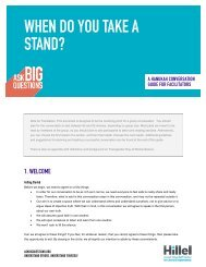 WHEN DO YOU TAKE A STAND? - Ask Big Questions