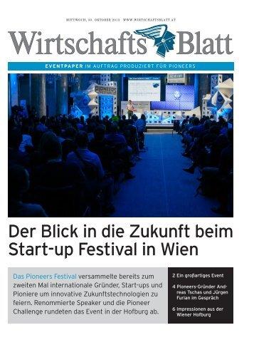 Pioneers Festival - wirtschaftsblatt.at