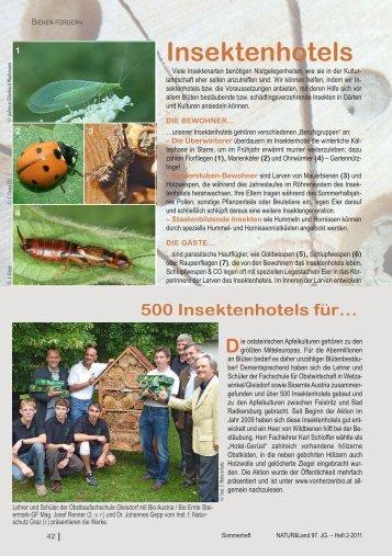 Insektenhotels Die - Naturschutzbund