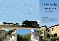 Flyer ansehen - Ferien in der Lunigiana