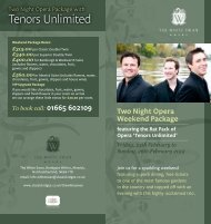 Tenors Unlimited - Classic Lodges