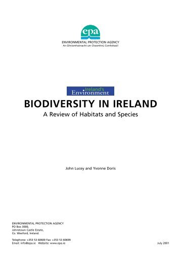 BIODIVERSITY IN IRELAND - EPA