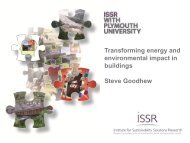 Transforming energy and environmental impact in ... - Plymouth