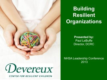 View the PowerPoint presentation - Devereux Center for Resilient ...