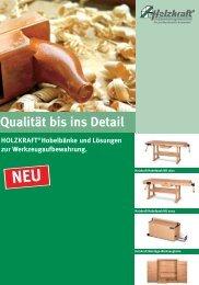 HOLZKRAFT® Hobelbänke und Lösungen zur ...