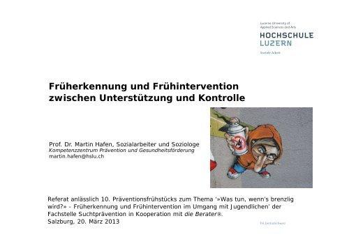 Vortrag Prof. Dr. Martin Hafen - Akzente