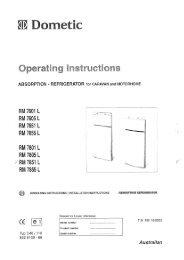 RM7851 Operating Instructions - Dometic Australia
