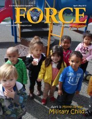 April - May 2013 - 61st Force Support Squadron at Los Angeles AFB