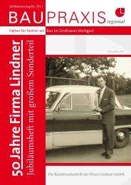 50 Jahre Firm a Lindner - Wertarbeit