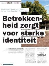 Falco Award Beste Openbare Ruimte 2012 - Stedelijk Interieur
