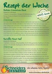 Rezept der Woche - Schneiders Obsthof
