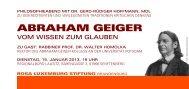 ABRAHAM GEIGER - DIE LINKE. Dr. Gerd-Rüdiger Hoffmann