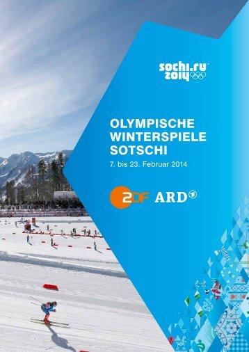 Olympische Winterspiele sOtschi - ZDF Presseportal