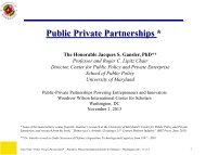 Public Private Partnerships * - Woodrow Wilson International Center ...
