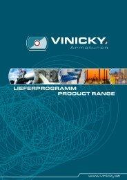Lieferprogramm product range - Vinicky Armaturen Handels GmbH