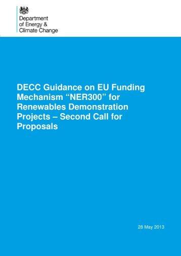 """""""NER300"""" for Renewables Demonstration Projects - Gov.uk"""