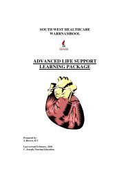 ADVANCED LIFE SUPPORT LEARNING PACKAGE