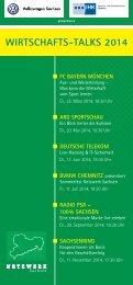 Wirtschafts-Talks 2014 — Flyer Download (PDF) - Netzwerk-Sachsen
