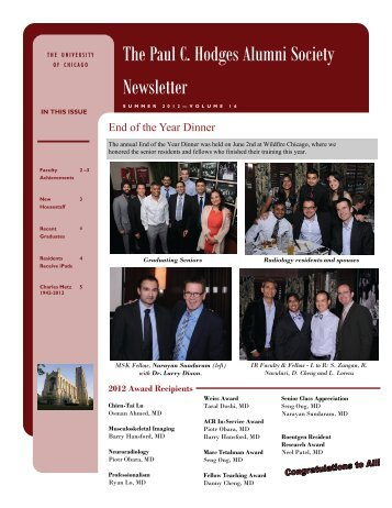 The Paul C. Hodges Alumni Society Newsletter - Department of ...
