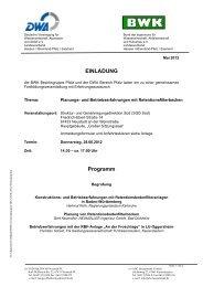 EINLADUNG Programm - BWK Hessen Rheinland-Pfalz Saarland