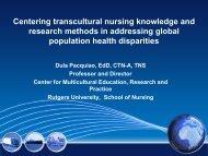 Health Disparity - Transcultural Nursing Society