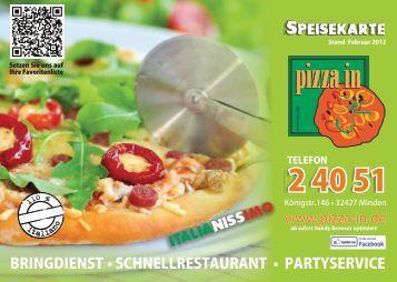 (0571) 2 40 51 - Pizza-In La Trattoria 1 GmbH
