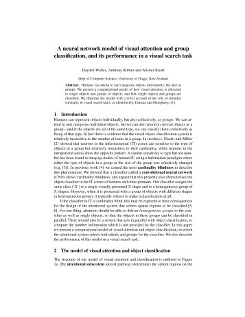 A neural network model of visual attention and group classification ...