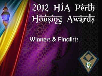 2012 Perth Housing Awards Winners & Finalists Sheet.pdf - HIA