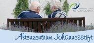 Dem Menschen dienen - Altenzentrum Johannesstift