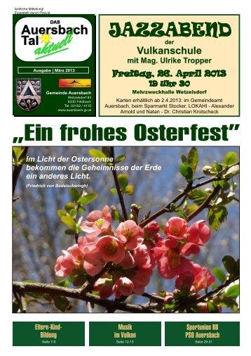 Gemeindezeitung 1/2013 - Gemeinde Auersbach