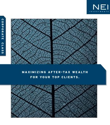 MAxIMIZING AFTER-TAx WEALTH FOR YOUR ... - NEI Investments