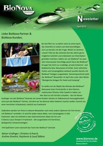 Newsletter April 2013 zum Download - BioNova