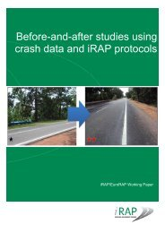Before-and-after studies using crash data and iRAP protocols