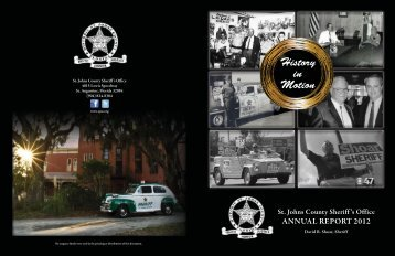 2012 Annual Report.indd - St. Johns County Sheriff's Office