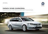 Fahrhilfen-Katalog (PDF; 1,3MB) - Volkswagen AG
