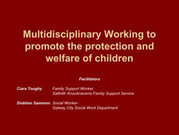 Multidisciplinary Working To - UNESCO Child and Family Research ...